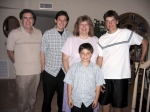 From Left - Husband Howard, son Robbie, Audrey, son Jeffrey, son Daniel in front