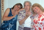 Carole George, Erelene Christensen, Cathy Nary (left to right) 7/9/06 pic credit: Jim Heiner