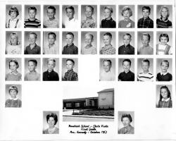 Rosebank Elementary, October 1963, 1st Grade. Submitted by Roy Bottger